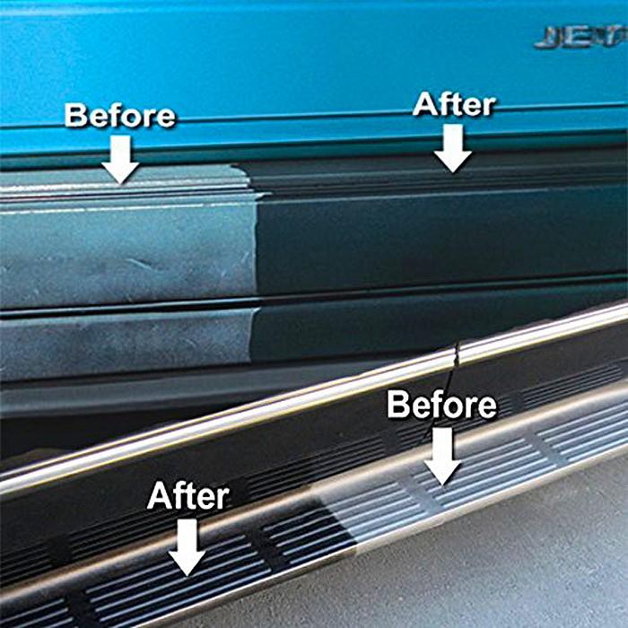 black bumper restore